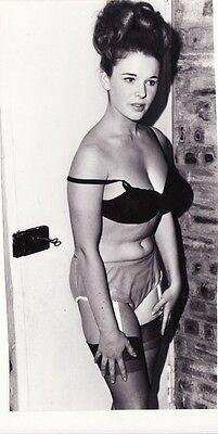 60`s   black and white  vintage amateur glamour  lady at  door