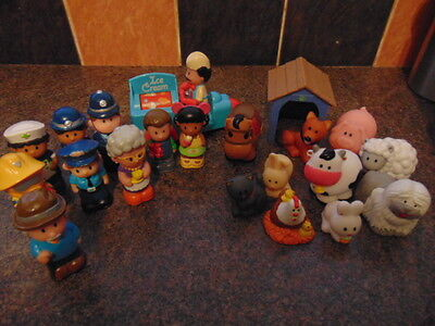 Collection Of Elc Happyland Figures And Vehicles