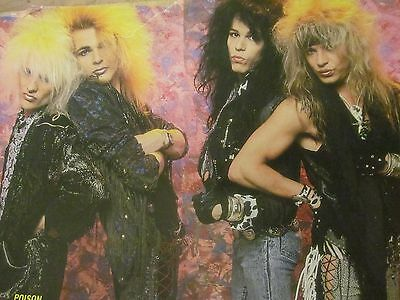 Poison, Metallica, Double Full Page Vintage Pinup