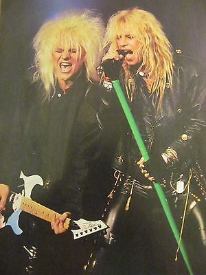 Poison, Bret Michaels and C.C. DeVille, Full Page Vintage Pinup
