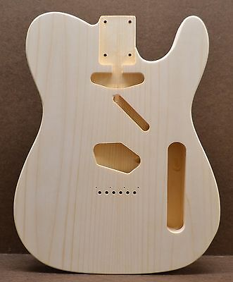 Custom Order T Style Unfinished White Pine Guitar Body Fits Telecaster Neck