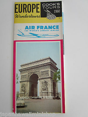 Air France Cook's Tours Europe Wondertours where to go & what to see flyer 1960