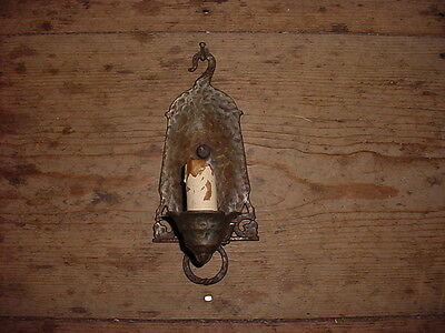 c1920 Arts & Crafts Electric Light Wall Sconce