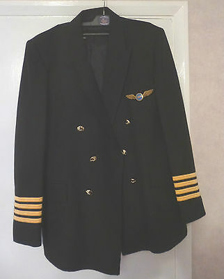 British Airways Helicopter 's 1970/80's Captain's Uniform Jacket and Hat
