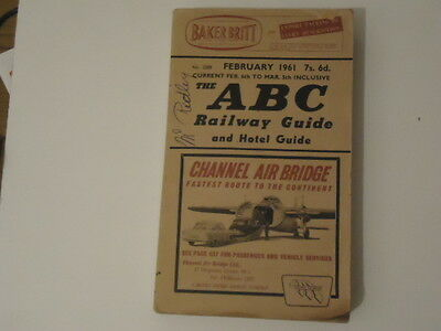Abc Railway And Hotel Guide Published Feb 1961 - 888 Pages