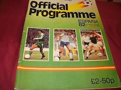World Cup Espana 82, Official Programme UK /EIRE Edition