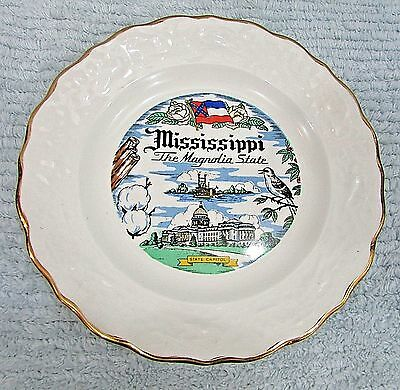 "Mississippi The Magnolia Vintage 7"" State Plate FREE S/H"