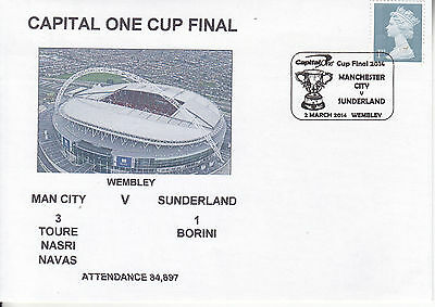 Man City V Sinderland Capital Cup Final 2014