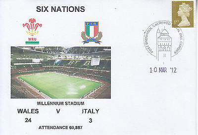 Wales V Italy 6 Nations Rugby Envelope 10 Mar 2012