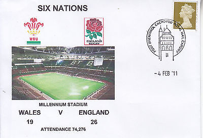 Wales V England 6 Nations Rugby Envelope 4 Feb 2011