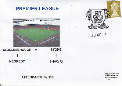 Middlesbrough V Stoke Premeirship 13 Aug 2016 Envelope