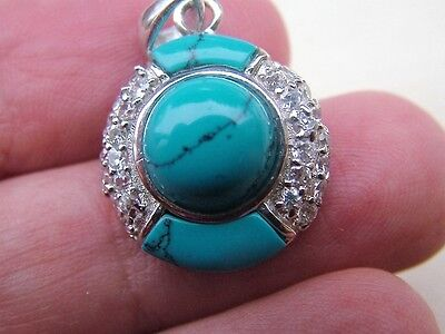 Silver Blue Stone Pendant Top Quality