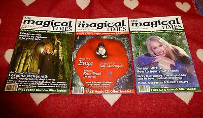MAGICAL TIMES Magazine Set of 3 Back Issues Pagan Druid Wicca Fairies & Angels