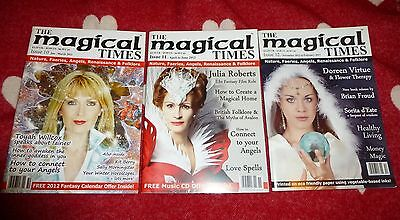 MAGICAL TIMES Magazine Set of 3 Back Issues Pagan  Druid Wicca Faery & Angels