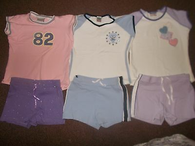 Girls summer NEXT bundle 3 t-shirts & 3 shorts age 6 years excellent condition