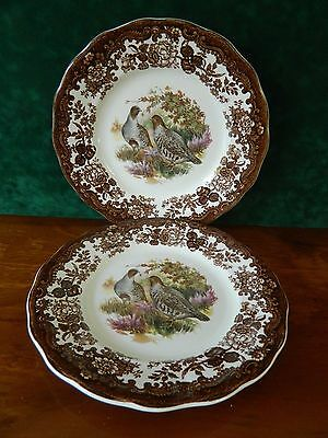 3 Royal Worcester 'game Series' Side Plates - Partridge