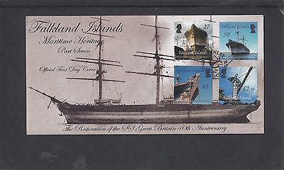 Falkland Isles 2010 SS Great Britain ship First Day Cover FDC Stanley pict pmk