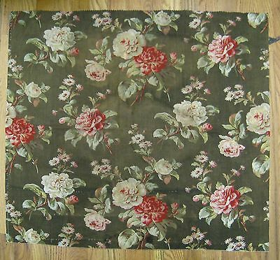 Lovely Antique 19th C. French  Floral Rose Print on Cotton Fabric (9962)