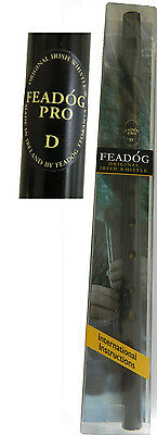 Feadog Professional Model Irish Tin Whistle Original Penny whistle Black D 8077B