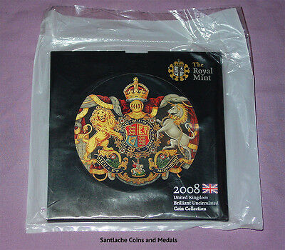 2008 ROYAL MINT BRILLIANT UNC SET COINS - Scarce Olympics £2 - MINT SEALED