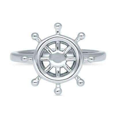 BERRICLE Sterling Silver Helm Fashion Right Hand Ring