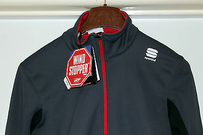 Sportful Axiom Windstopper Jacket Cycling top LARGE Grey  BNWT l@@k Half price!