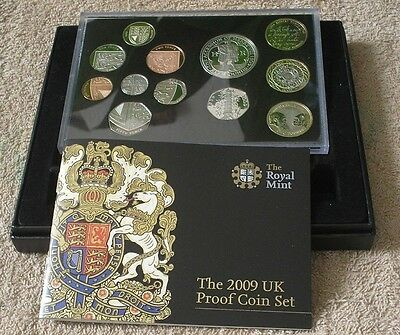 2009 ROYAL MINT PROOF SET OF COINS - Kew Gardens 50p -
