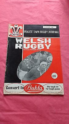 Welsh Rugby October 1966 Rugby Union Magazine