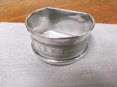 """A    Sterling Silver """" D Style""""  Napkin Ring     Birmingham  1962"""