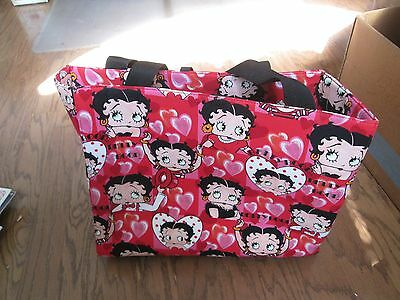 1994 NEW/Retired Large BETTY BOOP Red and Pink Print Tote Bag/Purse/Hand Bag NWT