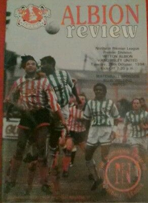 WITTON ALBION v KNOWSLEY UNITED.  25/10/1994