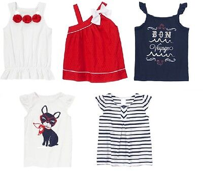 Gymboree Parisian Afternoon Red One Shoulder Swing Top Shirt Sz 4 5 6 10 NEW