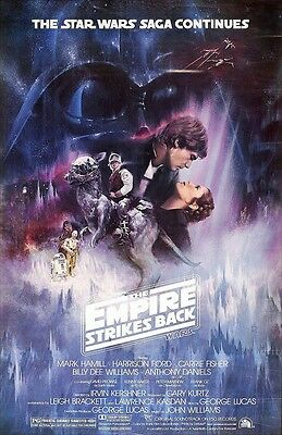 "Star Wars movie poster - Empire Strikes Back poster 11"" x 17""  Star Wars poster"
