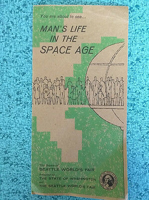 """Man's Life in the Space Age Seattle's World Fair Vtg 1962 Brochure """"Tomorrow"""""""