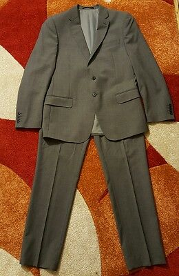M&S collection slim fit 100% wool suit siza 42 M,trousers size 36/31