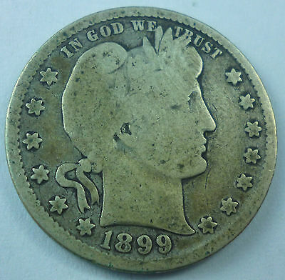 1899 United States Barber Head Quarter G Good Condition