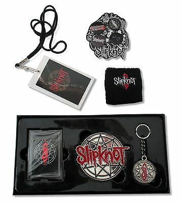 Slipknot Nonagram 6 Pc Gift Set Wristband Buckle Laminate Buttons Cards Keychain