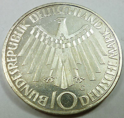 1972-G German / Germany 10 Mark UNC Uncirculated Condition - Munich Olympics