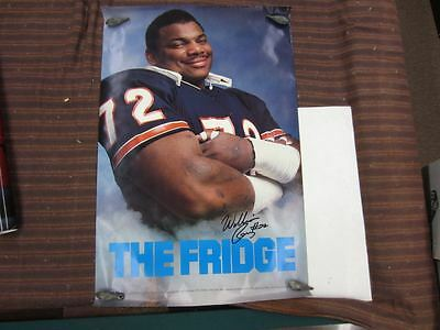 Vintage THE FRIDGE William The Refrigerator Perry Chicago Bears Poster 23 x 35