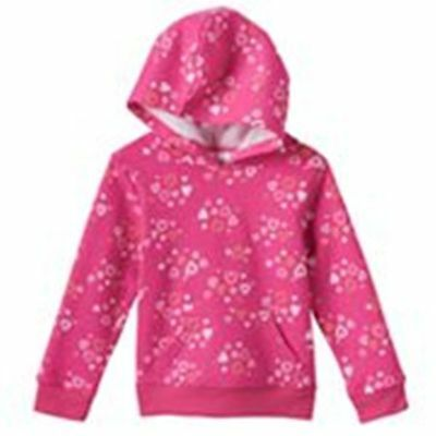 Jumping Beans Girl's PINK HEARTS Print Fleece Hoodie Size 18 Months NWT
