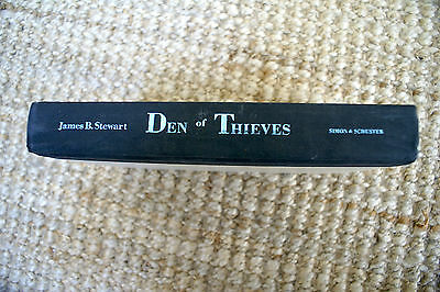 Den of Thieves 1991 by Stewart, James B. HARDCOVER 1st Edition