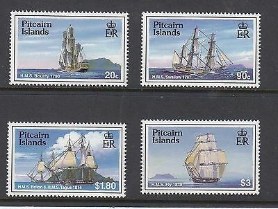 PITCAIRN ISLANDS 1998 SAILING SHIPS, Set of 4,Mint Never Hinged