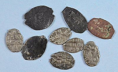 Russian Imperial. Peter I time. Coin Flakes (silver) 1682-1725