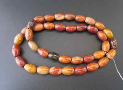 Chinese antiques hongshan culture old jade beads Amulet Necklaces Y668