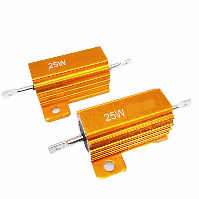 US Stock 2pcs 1 ohm 1R 25W Watt Aluminum Housed Metal Case Wirewound Resistors
