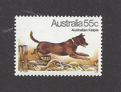 Art Body Portrait Postage Stamp AUSTRALIAN KELPIE CATTLE DOG Australia 1980 MNH