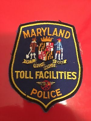 Maryland Toll Facilities  Police  Shoulder Patch  Used
