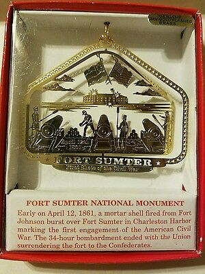 Fort Sumter Charleston South Carolina Brass Christmas Ornament