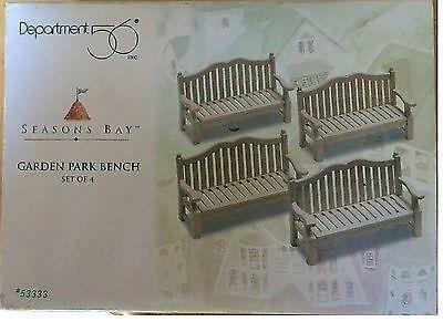 DEPARTMENT 56 SEASONS BAY The Garden Park Bench (Set of 4) 53333 MIB