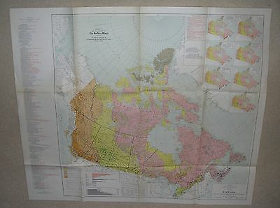 The Principal Productive Mines of Canada 1953 Map from The Northern Miner